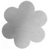 Metal Blank 24ga German Silver Flower 34mm No Hole 3Pc